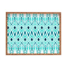 <strong>DENY Designs</strong> Amy Sia Ikat Jade Rectangular Tray