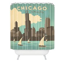 Anderson Design Group Woven Polyester Chicago Shower Curtain