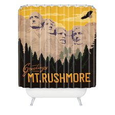 <strong>DENY Designs</strong> Anderson Design Group Woven Polyester Mount Rushmore Shower Curtain