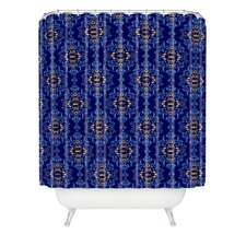 Belle13 Royal Damask Pattern Polyester Shower Curtain