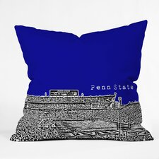 Bird Ave Penn State University Woven Polyester Throw Pillow
