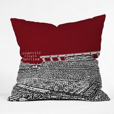 Bird Ave University of South Carolina Dark Woven Polyester Throw Pillow