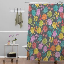 <strong>DENY Designs</strong> Bianca Woven Polyester Roses Shower Curtain