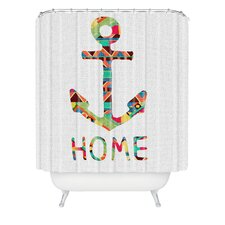 Bianca Woven Polyester You Make Me Home Shower Curtain