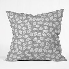 Bianca Green Leafy Woven Polyester Throw Pillow