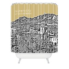 Bird Ave Woven Polyester University of Colorado Shower Curtain