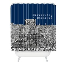 Bird Ave Woven Polyester University of Michigan Shower Curtain