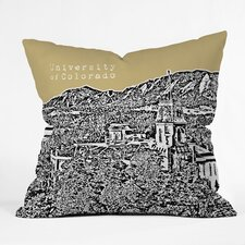<strong>DENY Designs</strong> Bird Ave University of Colorado Woven Polyester Throw Pillow