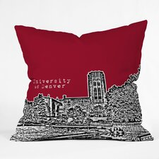 <strong>DENY Designs</strong> Bird Ave University of Denver Woven Polyester Throw Pillow