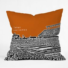 Bird Ave Texas Longhorns Woven Polyester Throw Pillow