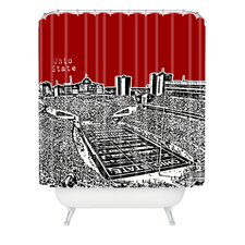 Bird Ave Woven Polyester Ohio State Buckeyes Shower Curtain