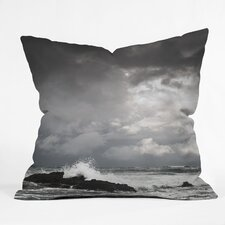 <strong>DENY Designs</strong> Bird Wanna Whistle Water Woven Polyester Throw Pillow