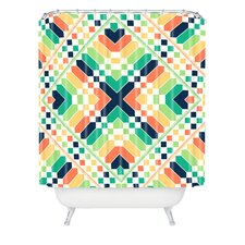 <strong>DENY Designs</strong> Budi Kwan Retrographic Rainbow Shower Curtain