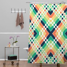 Budi Kwan Retrographic Rainbow Shower Curtain