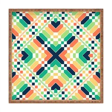 <strong>DENY Designs</strong> Budi Kwan Retrographic Rainbow Square Tray