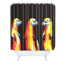 <strong>DENY Designs</strong> Clara Nilles Woven Polyester Flaming Otters Shower Curtain