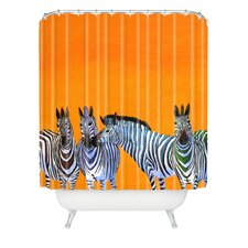 <strong>DENY Designs</strong> Clara Nilles Woven Polyester Candy Stripe Zebras Shower Curtain