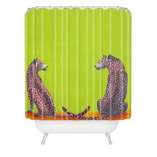 <strong>DENY Designs</strong> Clara Nilles Woven Polyester Leopard Lovers Shower Curtain