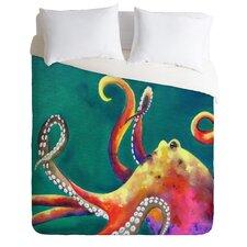 Clara Nilles Lightweight Mardi Gras Octopus Duvet Cover