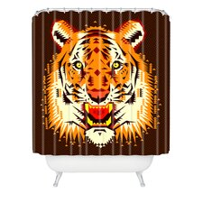 Chobopop Geometric Polyester Tiger Shower Curtain