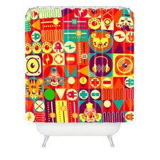 <strong>DENY Designs</strong> Chobopop Elecro Polyester Circus Shower Curtain
