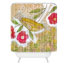 <strong>DENY Designs</strong> Cori Dantini Woven Polyester Sweet Meadow Bird Shower Curtain