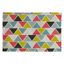 Heather Dutton Triangulum Black/Gray Geometric Area Rug