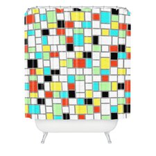 Jacqueline Maldonado Woven Polyester Geo Square Shower Curtain