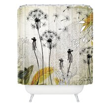Iveta Abolina Polyester Little Dandelion Shower Curtain