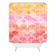 <strong>DENY Designs</strong> Cori Dantini Warm Spectrum Rainbow Shower Curtain