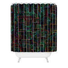 Jacqueline Maldonado Woven Polyester Matrix Shower Curtain