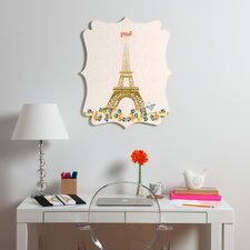 Jennifer Hill Paris Eiffel Tower Quatrefoil Magnet Board