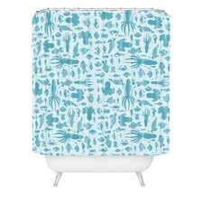 <strong>DENY Designs</strong> Jennifer Denty Woven Polyester Sea Creatures Shower Curtain