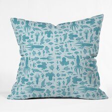 Jennifer Denty Sea Creatures Indoor / Outdoor Polyester Throw Pillow