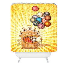 Jose Luis Guerrero Woven Polyester Monster Shower Curtain