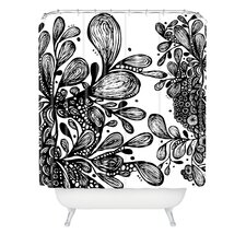 <strong>DENY Designs</strong> Julia Da Rocha Wild Leaves Shower Curtain