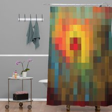 Madart Inc Woven Polyester Glorious Colors Extra Long Shower Curtain
