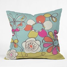 Rachael Taylor Fun Floral Indoor / Outdoor Polyester Throw Pillow