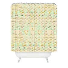 Pattern State Polyester Triangle Lake Shower Curtain