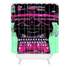 <strong>DENY Designs</strong> Romi Vega Polyester Antique Typewriter Shower Curtain