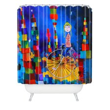 Robin Faye Gates Polyester Out of Bounds Shower Curtain