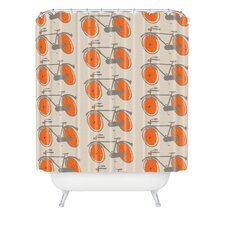 Mummysam Bicycles Woven Polyester Shower Curtain