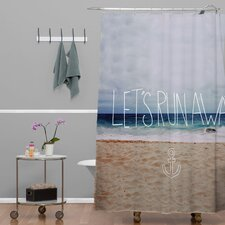 Leah Flores Lets Run Away III Woven Polyesterrr Shower Curtain
