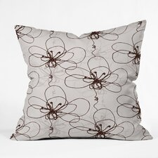 Rachael Taylor Tonal Floral Woven Polyester Throw Pillow