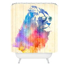 Robert Farkas Woven Polyester Sunny Leo Extra Long Shower Curtain
