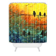 <strong>DENY Designs</strong> Madart Inc. Polyester Birds Of A Feather Shower Curtain