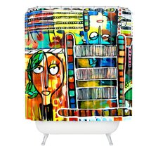 <strong>DENY Designs</strong> Robin Faye Gates Polyester Musical Chairs Shower Curtain