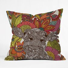 <strong>DENY Designs</strong> Valentina Ramos Arabella and The Flowers Indoor/Outdoor Polyester Throw Pillow