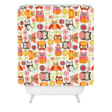 <strong>DENY Designs</strong> Valentina Ramos Polyester Cute Little Owls Shower Curtain
