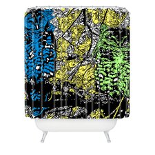 Romi Vega Polyester Bright Owl Shower Curtain